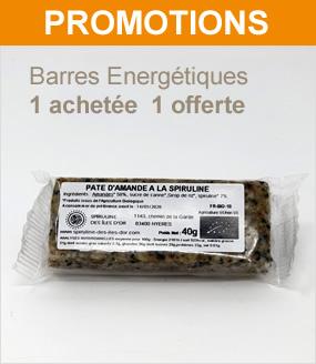 promo  barres énergetiques  à la spiruline